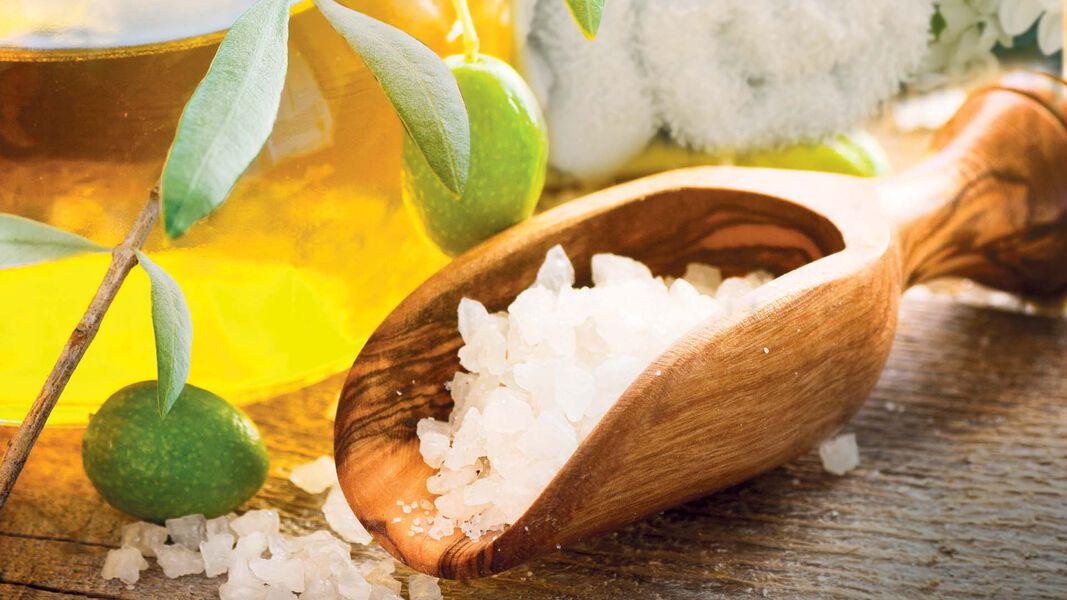 Kosmetik und Seifen mit Olivenöl