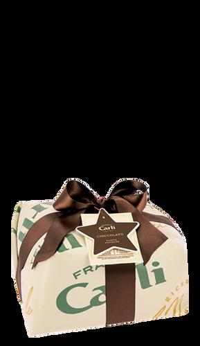 Panettone mit Schokolade und Olivenöl