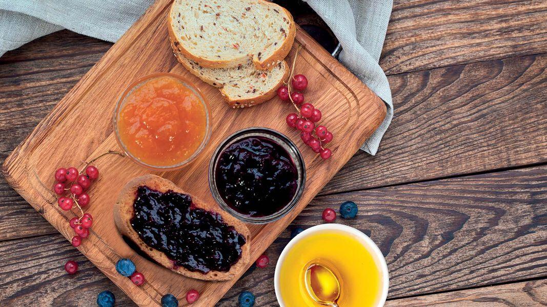 Honig und Marmelade